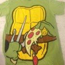NEW Mens S TMNT Body W/ Pizza Green T-Shirt Halloween Costume