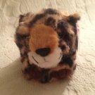 """4"""" Swibco Puffkins Plush Stuffed Lenny Leopard Cat W/ Tag"""