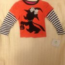 NWT Disney Minnie Mouse Halloween Trick Or Treat Tshirt Orange Black Striped 18M
