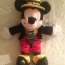 "Rare Walt Disney 10"" Happy New Year 2003 Mickey Mouse Plush Stuffed Beanie"