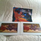 Lot 2 Disney Store Exclusive 2000 Tarzan Movie Lithographs Set W/ Envelope