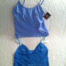 NWT Lot 2 Camisole Tanks Blue Lace  Joe Boxer & Pink K  Adjustable Straps