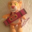 """8"""" PBS Reading Between The Lions Bean Bag Toy W/ Bookmark Leona Cub"""