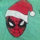 NWT Marvel Spiderman Wearing Santa Hat Christmas T-Shirt 12M Long Sleeve