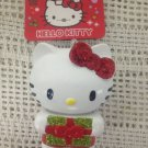 NEW Hello Kitty Christmas Tree Ornament Holding Glitter Package Plastic