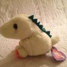 "4"" Swibco Puffkins Plush Stuffed Dinky Light Green Dinosaur W/ Tag"