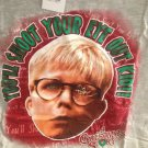NWT Mens T-Shirt Small A Christmas Story Your Shoot Your Eye Out Kid! Gray