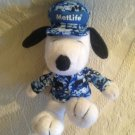 "VTG 6"" Metlife Peanuts Snoopy Plush Stuffed Army Soldier"