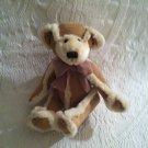 "Plush Bath & Body Works 7"" Gingerbread Brown Faux Suede Bear Stuffed"