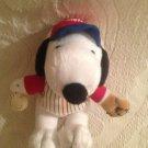 "6"" Metlife Peanuts Snoopy Plush Stuffed Baseball Player"