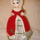 Vintage Bradley Big Eye Christmas doll Red Dress Holly Xmas