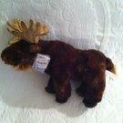 "13"" Long NWT Aurora Flopsies Maury Moose Plush Stuffed Brown Soft Lovey"