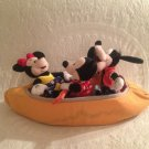 Rare HTF Disney Cruise Line Mickey Minnie Mouse Goofy Canoe Boat Plush Stuffed