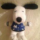 """6"""" Metlife Peanuts Snoopy Plush Stuffed Letter Jacket"""