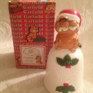 "VTG 1982 5"" Garfield Christmas Bell Enesco Ceramic E-6631 W/ Box"