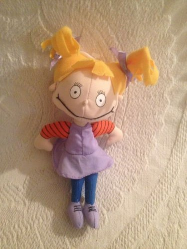 "1997 8"" Nickelodeon Applause Rugrats Angelica Plush Stuffed Doll Beanie"