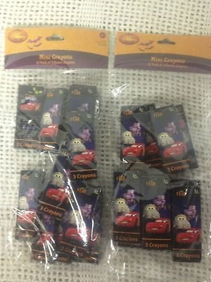 NEW Lot 24 Three Pack Crayons Disney CARS Party Favor Halloween