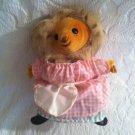 "Vintage 1970's Eden Toys 8"" Beatrix Potter Tiggy Winkle Plush Stuffed Hedgehog"