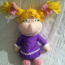 "8"" Mattel 1998 Rugrats Angelica Plush Stuffed Beanie In Nightgown VGUC"