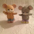 "Set 2 1/2"" AVON Best Buddies Mice Roller Skating Mouse Ceramic Figurines"