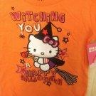 Sanrio Hello Kitty Happy Halloween Witch Cat Orange T-shirt 24M