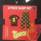 NWT M Dr. Seuss The Grinch Christmas Mens Sleep Set Pants T-Shirt