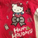 NWT Sanrio Hello Kitty Christmas Girls T-Shirt 4T Red Longsleeve Happy Holidays
