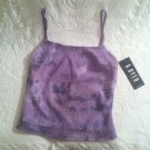 A. Buyer California Juniors Medium Purple Floral Clubwear Tank Top Shirt NWT
