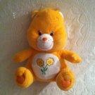 "11"" Friend Care Bear Plush Stuffed Sitting Down VGUC Color Flowers"
