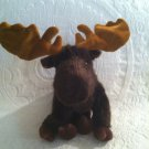 "10"" Long Bearington Collection Plush Stuffed Moose EUC"