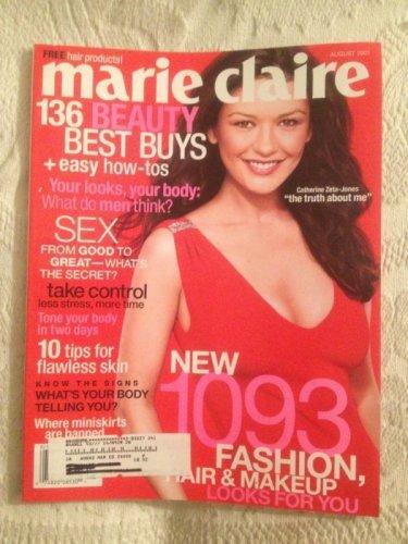 Marie Claire Magazine August 2001 Catherine Zeta Jones