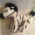 "5"" Russ Zeke Plush Stuffed Very Soft Zebra Toy Suede Feel"