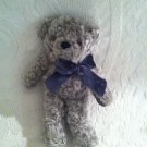 Rare VHTF Dakin Shannon Teddy Bear Grey Bow Around Neck Beanie