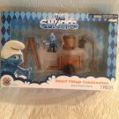 NEW Smurfs Movie Village Construction Playset W/ Handy Smurf PVC Figure