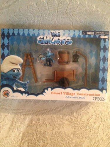 NEW Smurfs Movie Village Construction Playset W/ Handy Smurf PVC Figure