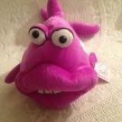 "NWT 15"" Long Rare Fiesta Plush Stuffed Purple Fish Crazy Face"
