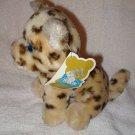 "7"" vintage 1980 Dakin plush Bean Bags Littlebit Leopard HTF Rare"