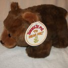 "Hard to Find 8"" plush vintage 1987 Squeez-Ems Billy the Brown Bear stuffed"