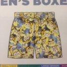 NEW Despicable Me Minion Made Men's Boxers XL 100% Cotton Novelty