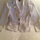 Bandolino Stretch Women's 10 Corduroy Floral Embroidered Jacket Coat