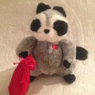"9"" Hallmark Wanted For Stealing Hearts Plush Stuffed Raccoon Valentine's Day"