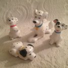 VTG Disney 101 Dalmatians Ceramic Figure Lot Perdita Puppies Yellow Red Blue
