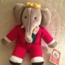 "VTG 1988 GUND BABAR Plush Elephant Stuffed MACY'S 14"" King With Tag"