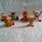 VTG Lot Garfield PVC Figures Hawaii Driver Wrestler Carnival Beach Stackers Sit