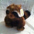 "1997 9"" Mary Meyer Plush Ringo Raccoon With Tag Stuffed # 40720"
