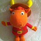 "14"" 2005 Fisher Price Backyardigans Tyrone Mountie Moose Plush Stuffed"