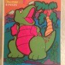 Rare 1993 Fisher-Price Dino-roar Eight Piece CardBoard Puzzle