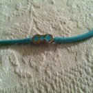 1998 New Adjustable Length Rubber Neck Green Headband