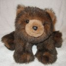 "8"" Bearington Collection Dark Brown Bear plush stuffed EUC"