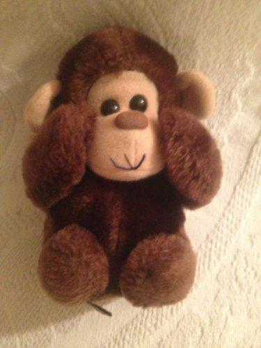 """Dakin VTG 1982 6"""" Plush Stuffed Brown Monkey VGUC"""